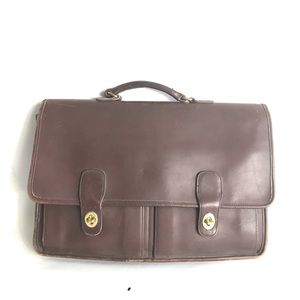 Vintage Brown Coach Leather Work/ laptop bag